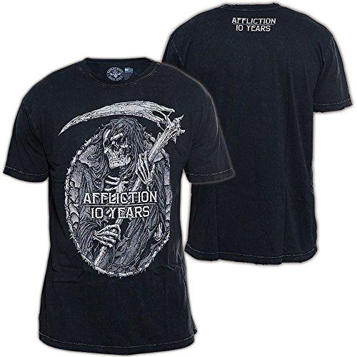 Affliction T-Shirt 10 Years Schwarz Schwarz