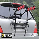 Popamazing 3 Bicycle Car Cycle Carrier Car Rack Bike Cycle Universal Car Rear Mount