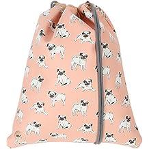 Mi-Pac Gold Kit Bag  Bolsa de Cuerdas para El Gimnasio, 37 cm,  Litros, Pugs Peach