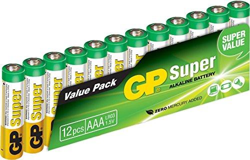 GP GP24A-2VS12 LR03 Super Alkaline AAA Micro Batterie (12-er Pack) Aaa-alkaline