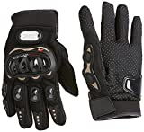 #7: Probiker Leather Motorcycle Gloves (Black, L)