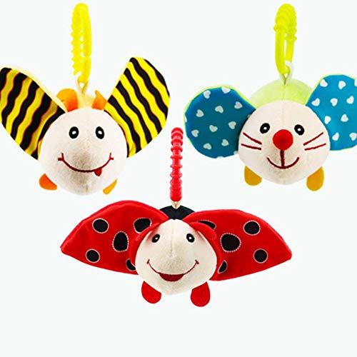 Hemore Kinderwagen-Spielzeug, Spielzeug zum Aufhängen, niedliche Reiseaktivität, Plüschtiere, Käfer, Gesundheit und Babypflege