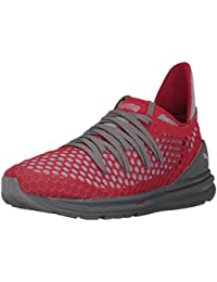 PUMA Men's Ignite Limitless Netfit Sneaker, Quiet Shade-Toreador, 7 M US