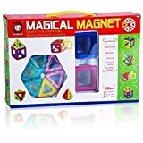 Powerpak Magical Magnet 20Pcs. Puzzle Building Blocks Construction Learning Educational Toy Set For Toddlers / Kids (701)