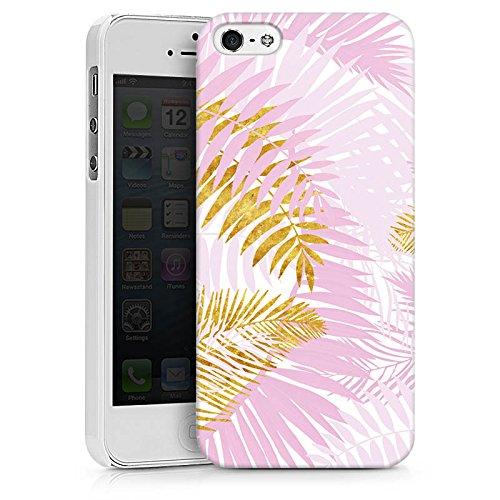 Apple iPhone X Silikon Hülle Case Schutzhülle Palme Palmenblätter Dschungel Hard Case weiß