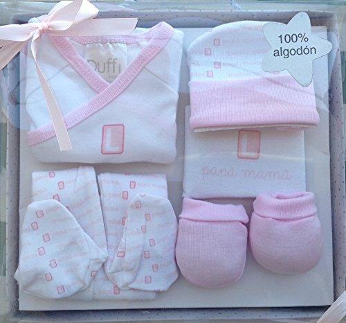 Set de regalo para bebé nacido, 0-3meses,5 piezas. color rosa
