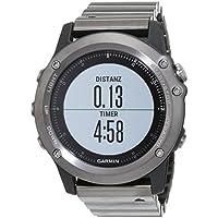 Garmin fenix 3 GPS-Multisportuhr, Smartwatch-, Navigations- und Sportfunktionen, GPS/GLONASS, 1,2 Zoll (3 cm) Farbdisplay, 010-01338-21