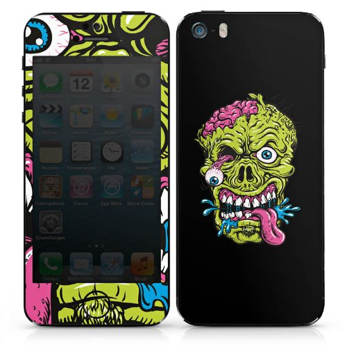 Apple iPhone 6s Case Skin Sticker aus Vinyl-Folie Aufkleber Zombie Halloween Gruselig DesignSkins® glänzend