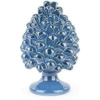 Pigna blu in ceramica di Caltagirone fatta a mano