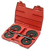 Innen Federspanner Satz mit 2 paar Druckteller Tellersystem Feder Montage und Demontage u.a. für Daimler-Benz (Fahrwerk-Instandsetzung Werkzeug)