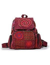 Kunst und Magie - Bolso al hombro de algodón para mujer ca. 28 x 10 x 40 cm, color rojo, talla ca. 28 x 10 x 40 cm
