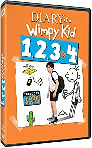 Diary of a Wimpy Kid - 4 Movies Collection: Diary of a Wimpy Kid 1 + Rodrick Rules + Dog Days + The Long Haul