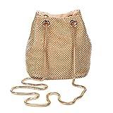 Mufly Rhinestone Strass Damen Unterarmtasche Abendhandtasche Party Tasche Hochzeit Handtasche(Golden)