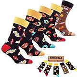 socks n socks-Männer 5 pk Bunte Baumwolle Neuheit Fastfood Kaffee Socken Geschenkbox Einheitsgröße