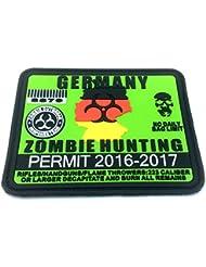 Alemania Alemán Zombie caza Permite Parche de PVC Velcro Airsoft