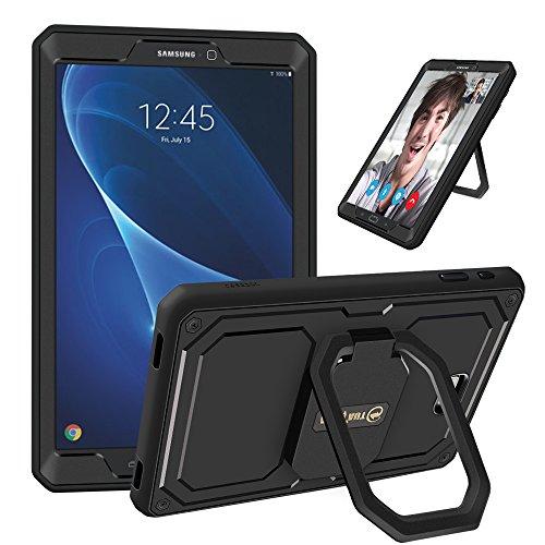 """Fintie Samsung Galaxy Tab A 10.1 Stoßfeste Hülle - [Tuatara Magic Ring] [360-Rotating] Multifunktionale Stand mit Griff Schutzhülle mit eingebauter Displayschutzfolie für Tab A 10.1"""" (2016), Schwarz"""