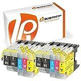 Bubprint 10 Druckerpatronen kompatibel für Brother LC-1220 LC-1240 LC1220 LC1240 für MFC-J430W MFC-J5910DW MFC-J6510DW MFC-J6710DW MFC-J825DW BK C M Y
