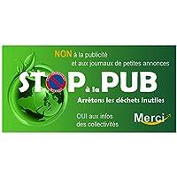 Autocollant.fr Stickers stop pub