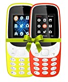 #3: I KALL 4.57 cm (1.8 Inch) Mobile Phone Combo - K3310 (Yellow & Red) With feature of currency detector