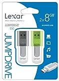 Lexar JumpDrive S50 - Memoria USB de 8 GB (2 unidades)
