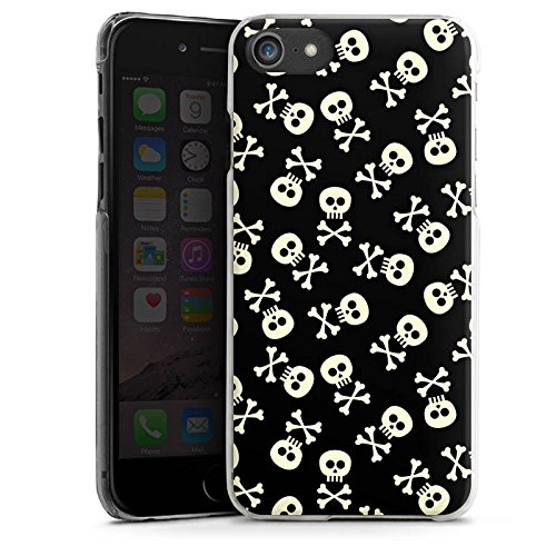 Apple iPhone X Silikon Hülle Case Schutzhülle Totenkopf Skull Schwarz-Weiß Hard Case transparent