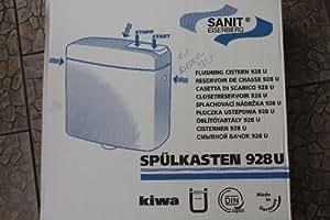 Sanit wC chasse d'eau apparent blanc 928 u avec wasserspartechnik d'eau 6–9 l