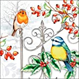 Serviette Vögel im Winter 20 Stück