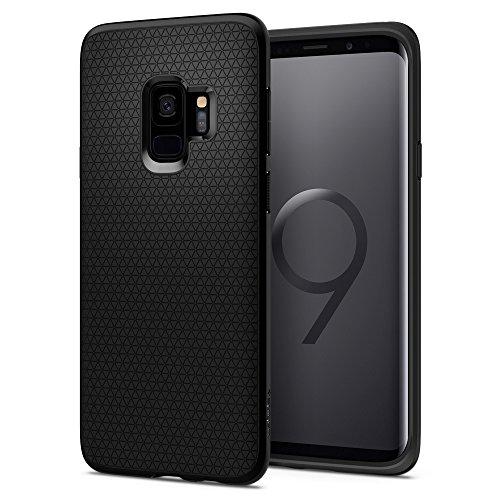 Spigen 592CS22833 Liquid Air Kompatibel mit Samsung Galaxy S9 Hülle, Stylisch Muster Design Handyhülle Schutzhülle Capsule Case Matte Black