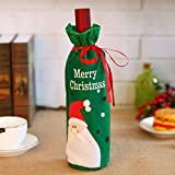 wicemoon Flasche Tasche Wein Flasche Tasche Santa Muster Rentier Santa Baum Santa Gesicht Santa Claus Staubbeutel Wein Flasche Kordel