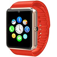 Zomtop Wearable Bluetooth Smart Watch GT08 Smart Health Wrist Watch Phone with SIM Card Slot for Android Samsung HTC LG SONY [Full Functions] IOS iPhone 5/5s/6/plus[Partial functions](Golden+Orange)