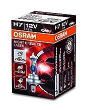 OSRAM NIGHT BREAKER LASER H7, lampada alogena per proiettori, 64210NBL, 12V PKW, scatola di cartone (1 pezzo)