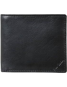 Cuero negro cartera de tarjeta de crédito de la cadera de Pierre Cardin