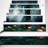 DFGTHRTHRT Simulación 3D Pegatinas de Escalera Extraíbles Pegatinas de Pared a Prueba de Agua Dormitorio Sala de Estar Fondo de Pantalla DIY Calcomanías murales (Color : WLT011, Size : OneSize)