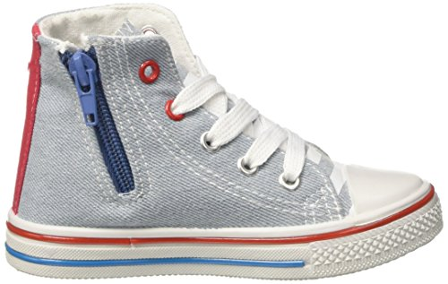 Minnie Canvas Hi, Sneaker a Collo Alto Bambina Blu (Denim)