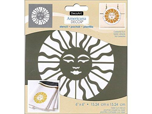 Celestial Home Decor (Deco Art decads-k.102Americana Decor Schablone Celestial Sonne, 15,2cm von 15,2cm)