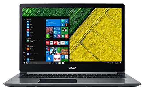 "Acer Swift 3 SF315-51G-52DN Notebook, Display 15.6"" FHD IPS LCD, Processore Intel Core I5-8250U, RAM 8 GB Ddr4, 256Gb Intel Pcie SSD, Scheda Grafica Nvidia GeForce Mx150, Grigio [Layout Italiano]"