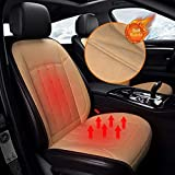 Xndryan Car Heated Seat Cushion, 12V/24V Front Seat Heated Pad, 1 Pack Soft