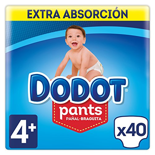 Dodot Pants Extra Pañales, Talla 4 (9-15 kg) - 2 x 40 Pañales