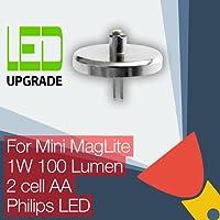 Mini Maglite LED Ampoule Conversion/mise à niveau pour Mini Maglite Lampe torche/lampe torche 2AA Cellule Philips LED