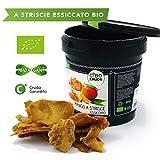 CiboCrudo Mango a Fette Essiccato Biologico Crudo, Raw Organic - 250gr - Mango Disidratato Bio Senza Zucchero e Senza Zolfo, Vitamina C, Etichette in Italiano