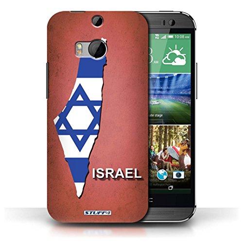 Coque de Stuff4 / Coque pour HTC One/1 M8 / Ecosse/écossaise Design / Drapeau Pays Collection Israël/Israélien