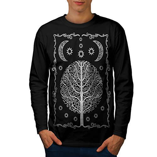 ornament-life-tree-night-magic-men-new-black-xl-long-sleeve-t-shirt-wellcoda