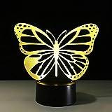 Zyyymx Coloridos Especímenes De Mariposa Alas De Color 3D Lámpara Insectos Ser Usb Creative Touch Lámparas De Escritorio Dormitorio Lámpara Durmiente