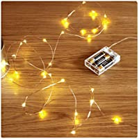 FairyDecor Led String Lights 50 Leds Decorative Fairy Battery Powered String Lights, Copper Wire light for Bedroom,Wedding(16ft/5m Warm White)
