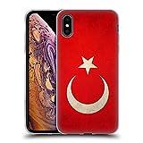 Head Case Designs Turquie Turque Drapeaux Vintage Étui Coque en Gel Molle pour iPhone XS Max