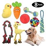 HomeMall Hunde spielzeug für mittelgroße kleine Hunde, Interaktives Hundespielzeug mit Quietschenspielzeug Seil Kinderkrankheiten Plüschspielzeug IQ Treat Ball Chew Toys Toss Ball für Hunde Zwei Stile