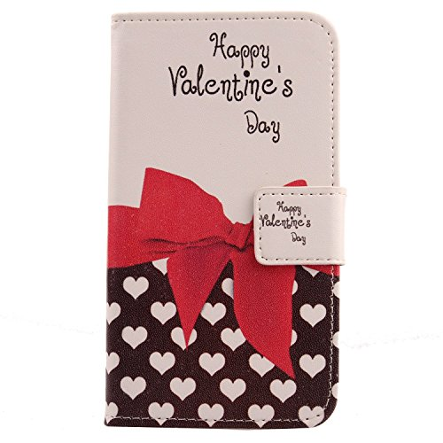 Lankashi PU Flip Leder Tasche Hülle Case Cover Schutz Handy Etui Skin Für Doogee Voyager2 Dg310 Sweet Heart Design