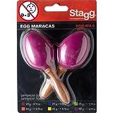 Egg Shaker- Maracas / Schütteleier am Stiel Paar Magenta, 50g