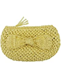 Kling clut chbag Eco Paper Bow Yellow