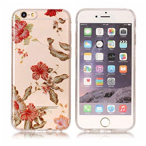 iPhone 6S Hülle ,Fodlon® Ultra Slim Fit TPU Gel Skin BlinkenPulver Schutzhülle / Case / Cover -Panda Azaleen